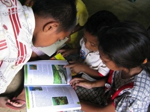 A reading garden for the kids in Dalong Village