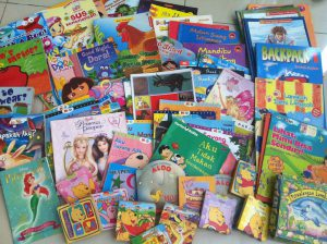 a picture of books for Rainbow Reading Gardens