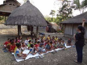 story telling photo of Rainbow Reading Gardens in Eastern Indonesia