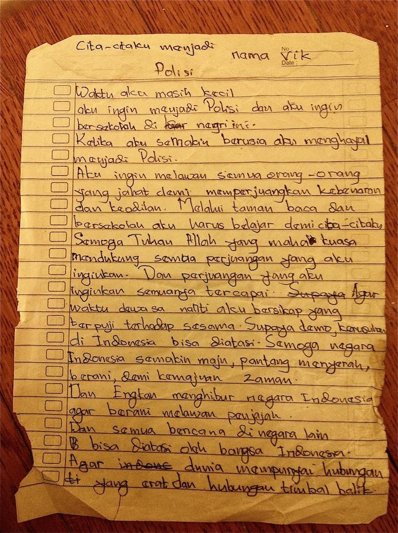 Cita-Citaku Menjadi Polisi (My Dream is to be a Cop)