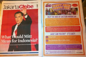 Rainbow Reading Gardens & Havaianas program in The Jakarta Globe