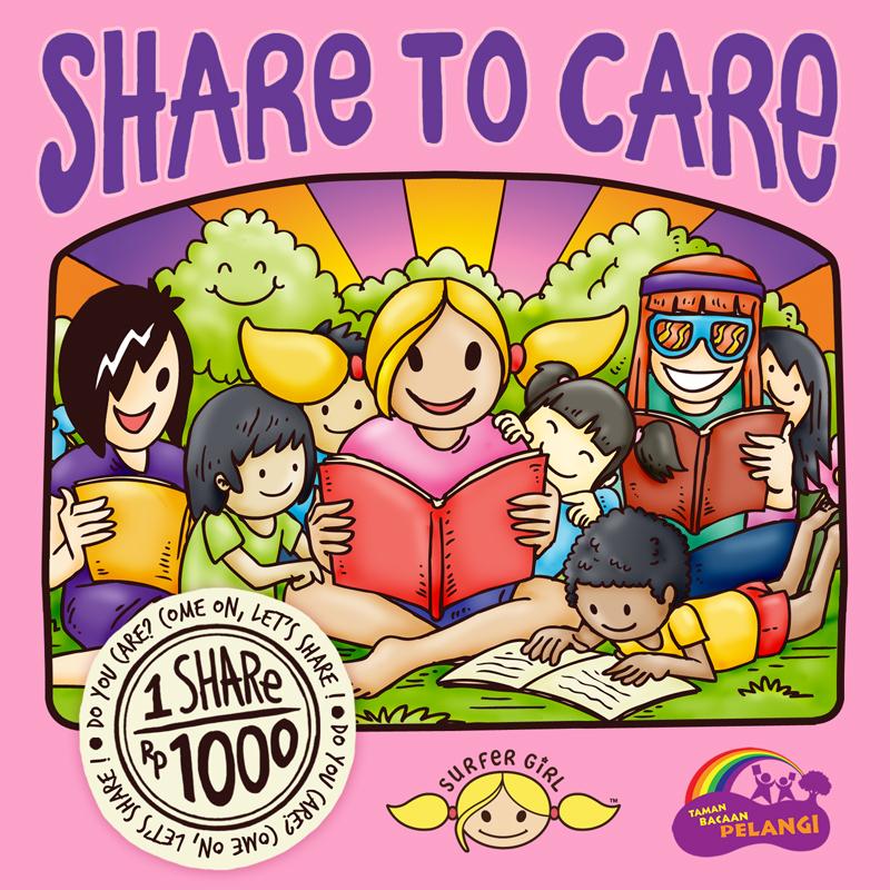 """""""Share to Care"""" : Kampanye oleh Surfer Girl untukTaman Bacaan Pelangi :)"""