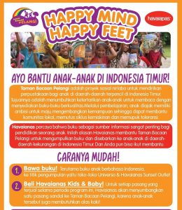 Happy Mind, Happy Feet campaign by Havaianas for Rainbow Reading Gardens