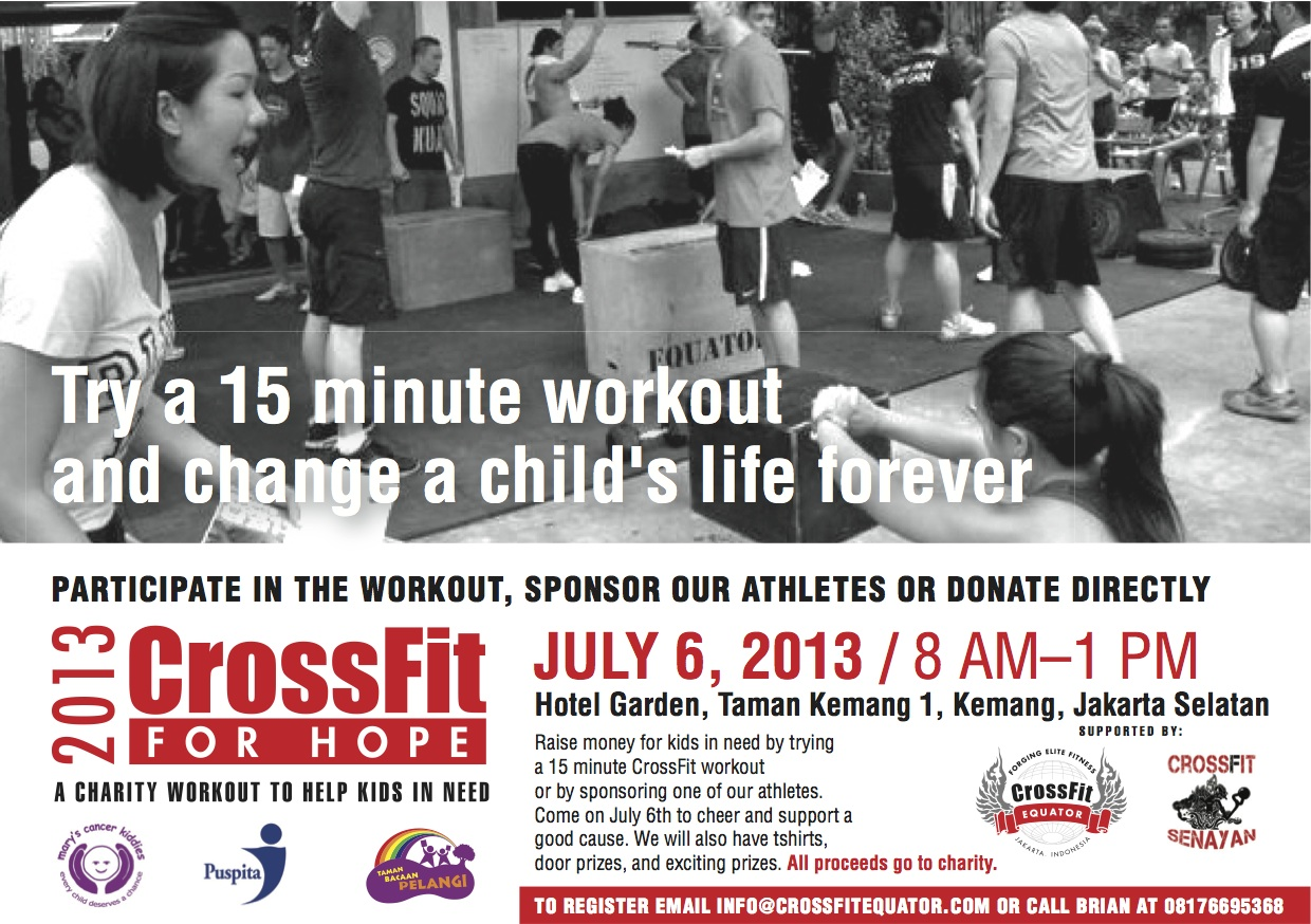 Donasi CrossFit For Hope