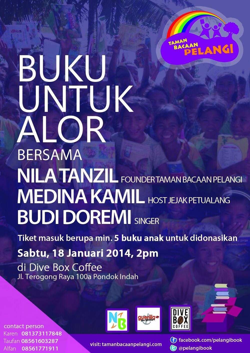 Book drive event #BukuUntukAlor
