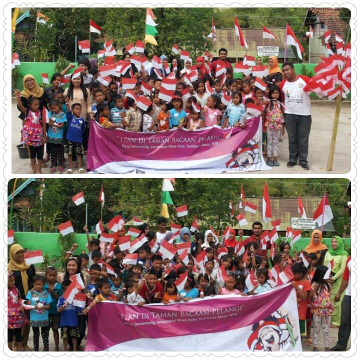 Independence Day Celebration at Our Library in Sumbawa Besar!
