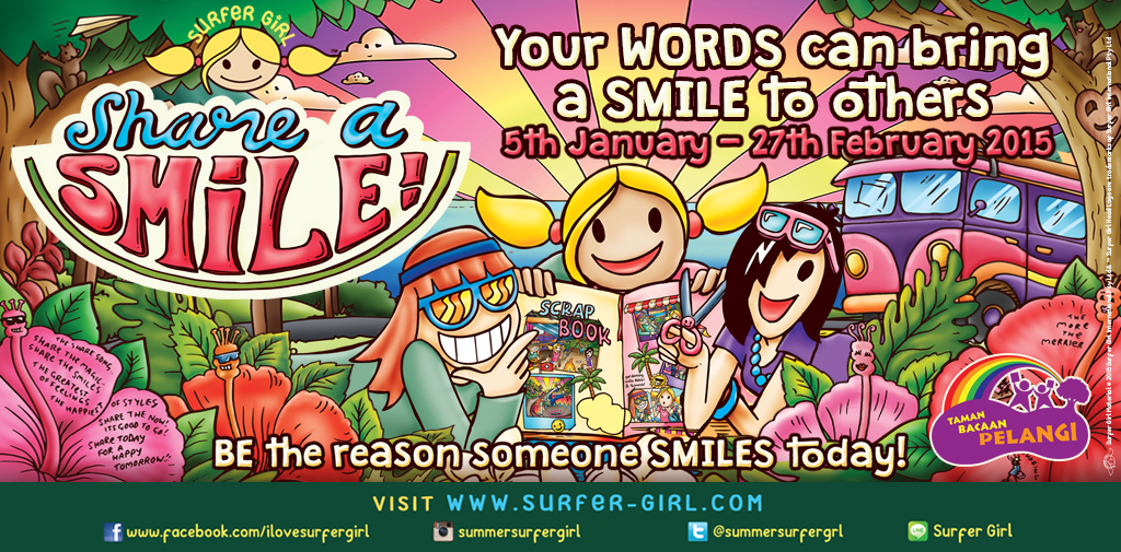 "Kampanye ""Share a Smile"" bersama Surfer Girl"
