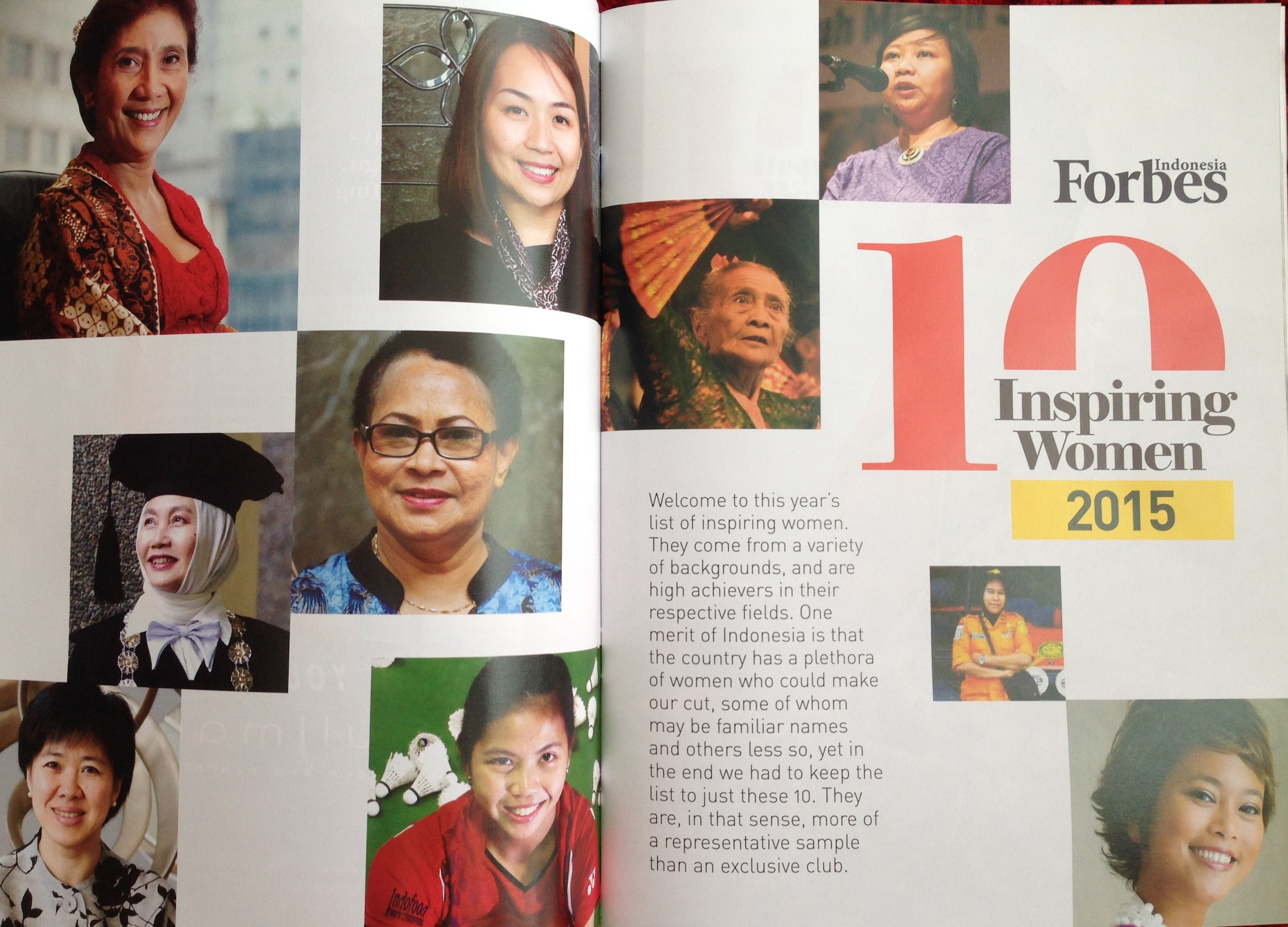 Forbes Indonesia 10 Inspiring Women 2015.