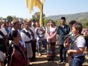 Penyambutan tamu secara adat Manggarai