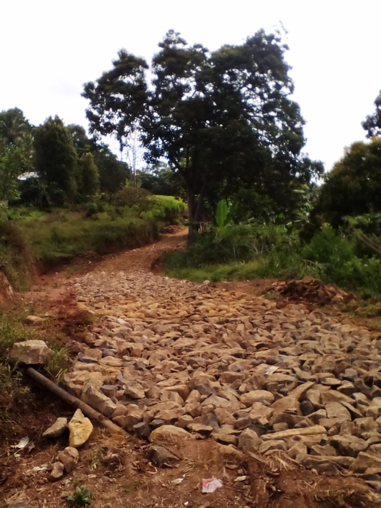 The road access to a school in Mbeliling Sub-district