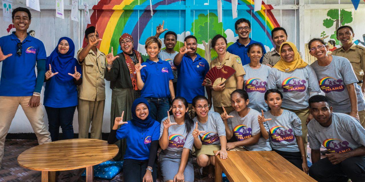 Perpustakaan TBP Ke-46 di SD Inpres  Munting Kajang, Komodo, Manggarai Barat, NTT