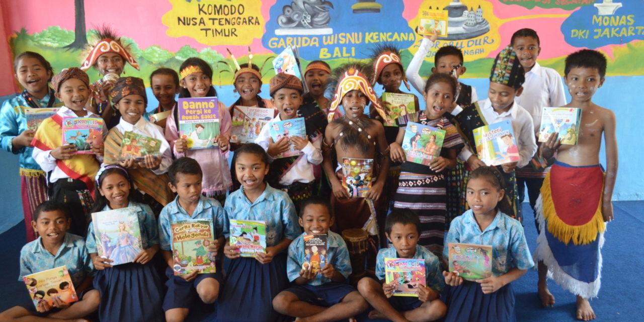 Peresmian Perpustakaan TB Pelangi ke-58 di SDN Rangga Watu, Flores, NTT