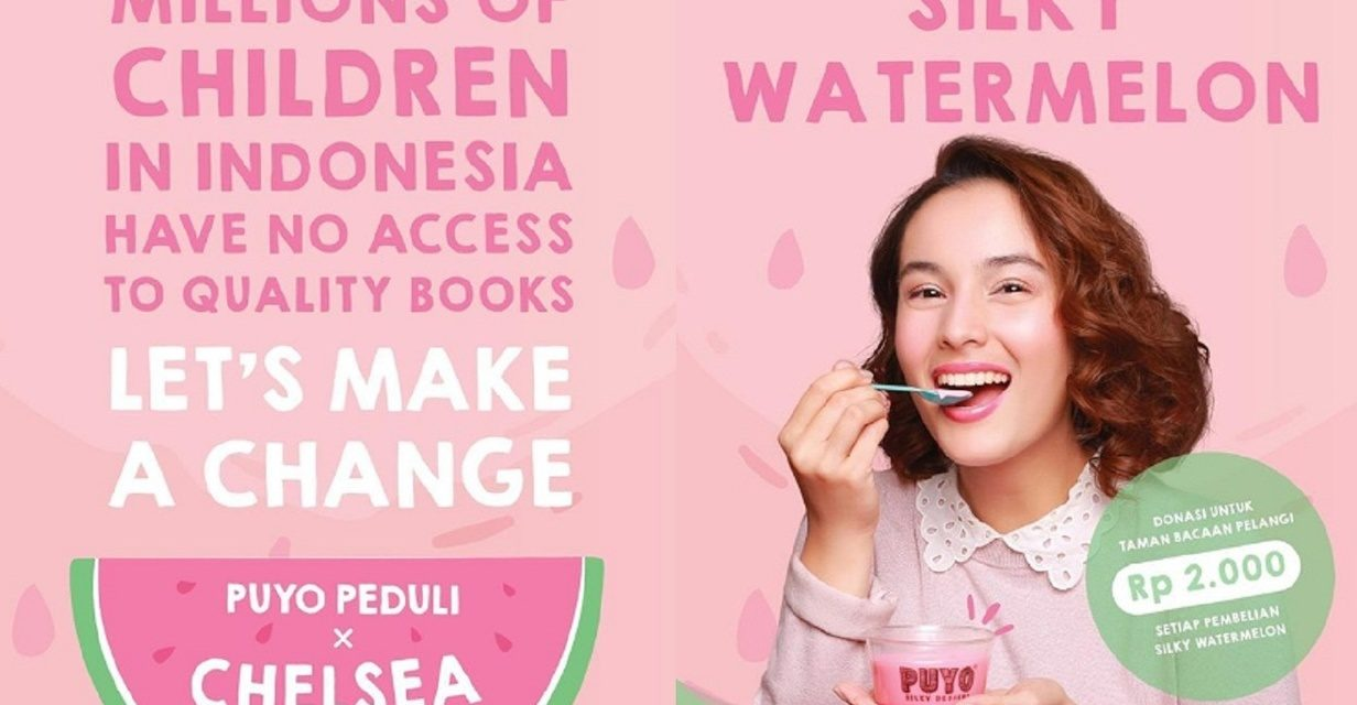 Puyo Desserts and Chelsea Islan  Raise Funds for Taman Bacaan Pelangi (Rainbow Reading Gardens)