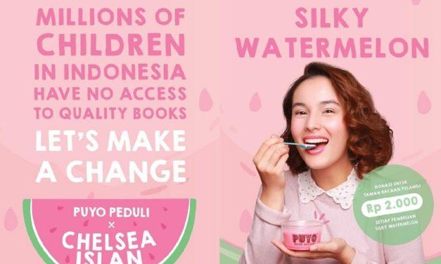 Puyo Desserts and Chelsea Islan  Raise Funds for Taman Bacaan Pelangi (Rainbow Reading Gardens)