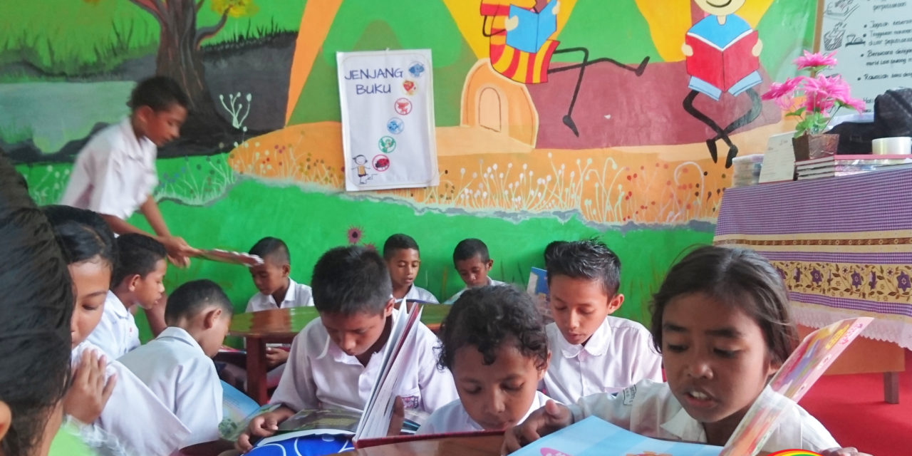 RADIANT READING ROOM: INAUGURATION OF THE 75TH #TBPELANGI LIBRARY AT SDI WOLOWONA 2, EAST ENDE, KAB. ENDE