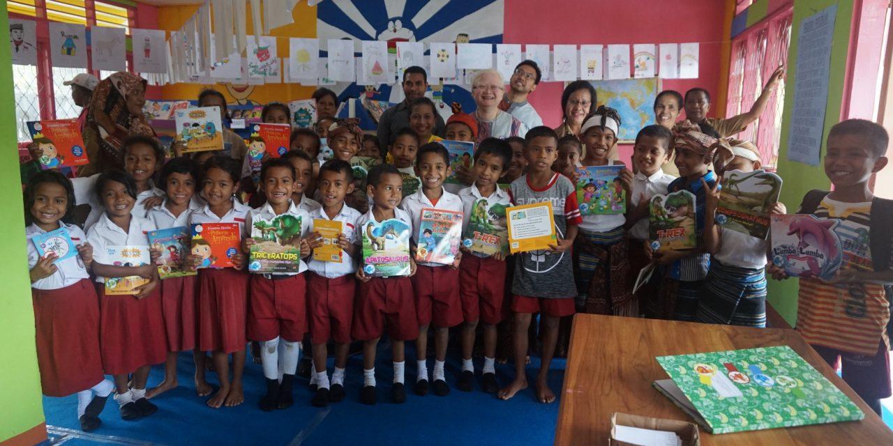 Peresmian Perpustakaan Taman Bacaan Pelangi Ke-86 di SD Inpres Ndona 4, Ende, Flores, NTT