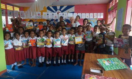 Inauguration of the 86th Rainbow Reading Gardens Library at SD Inpres Ndona 4, Ende, Flores, NTT