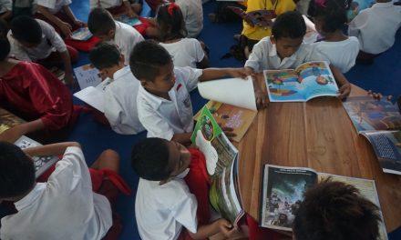 Inauguration of the 89th Rainbow Reading Gardens Library at SDI Nangapanda 2, Ende, Flores, NTT