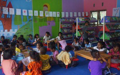 Inauguration of the 92nd Rainbow Reading Gardens Library at SDK Kombandaru, Ende, NTT
