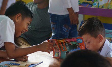Peresmian Perpustakaan Taman Bacaan Pelangi ke-96 di SDK Kekandere 1, Ende, NTT