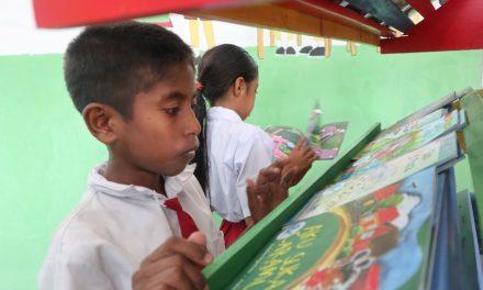 Perpustakaan TBP Ke-128 di SD Masehi Hupumada, Sumba Barat