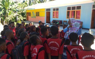 TBP melakukan sosialisasi ke sekolah-sekolah tentang bagaimana cara menghindari covid-19