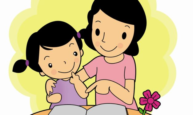Reading Books With Children During Self Quarantine at Home