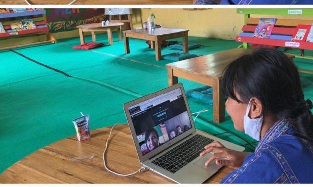 Pelatihan dan Praktek Membaca  Virtual  untuk Guru-Guru mitra TBP