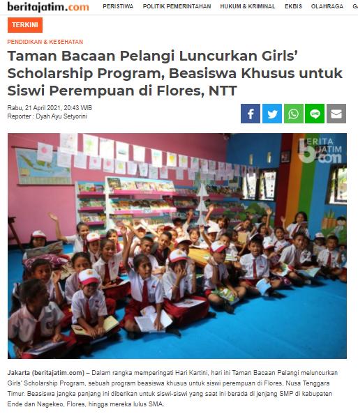 THE GIRLS' SCHOLARSHIP PROGRAM STARTS!