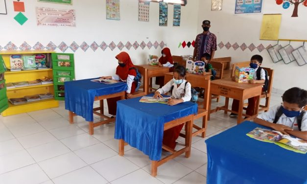 Sudut Baca SD UPT Amohola SP2,  Upaya Meningkatkan Minat Baca Anak-anak Transmigran
